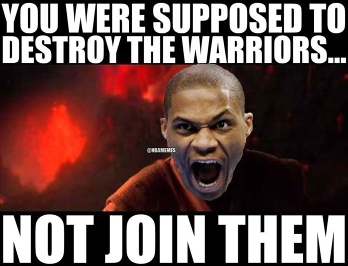 Top ten memes about Kevin Durant's move to the Warriors ...